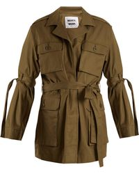 MUVEIL - Sleeve-tie Cotton Military Jacket - Lyst