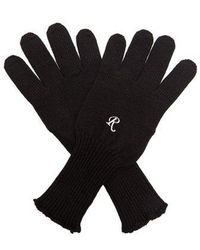 Raf Simons - Embroidered Wool-knit Gloves - Lyst