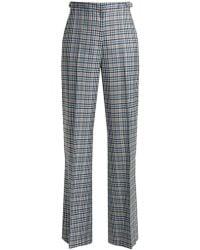 Gabriela Hearst - Vesta Plaid Silk And Wool-blend Wide-leg Trousers - Lyst
