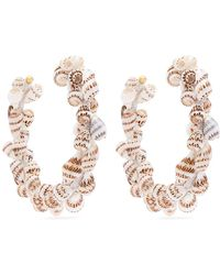 Rebecca de Ravenel - Olympia Shell And Gold-plated Hoop Earrings - Lyst