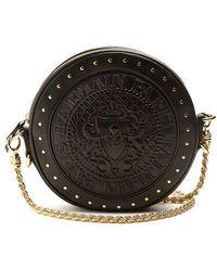 Stud-embellished leather cross-body bag Balmain 3o5Xs3Q