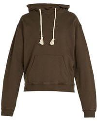 JW Anderson - Khaki Embroidered Hood Logo Hoodie - Lyst