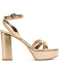 Gianvito Rossi - Poppy 70 Leather Platform Sandals - Lyst