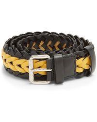 Prada | Bi-colour Braided Leather Belt | Lyst