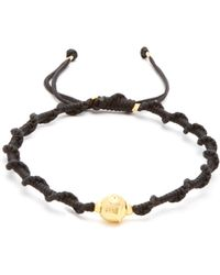 Black Dakini - Gold Vermeil And Cord Bracelet - Lyst