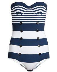 Dolce & Gabbana - Stripe-print Balconette Swimsuit - Lyst