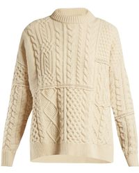 Golden Goose Deluxe Brand - Rochere Cable Knit Wool Sweater - Lyst
