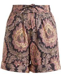 Isabel Marant - Ibo Floral-print Cotton Shorts - Lyst