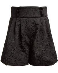 Dolce & Gabbana - High-rise Floral-jacquard Shorts - Lyst
