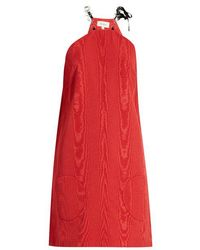 Isa Arfen - Chain-strap Faille Dress - Lyst