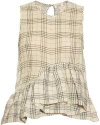 Isa Arfen | Ruffle-trimmed Cotton-blend Top | Lyst