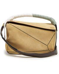 Loewe - Puzzle Wrap-handle Leather Bag - Lyst