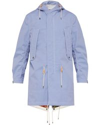 Junya Watanabe - Checked Water Repellent Cotton Hooded Raincoat - Lyst