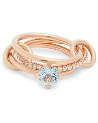 Spinelli Kilcollin - - Astral Aquamarine, Diamond & Rose Gold Ring - Womens - Rose Gold - Lyst