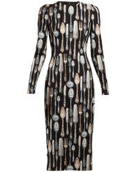 Dolce & Gabbana - Cutlery Print Dress - Lyst