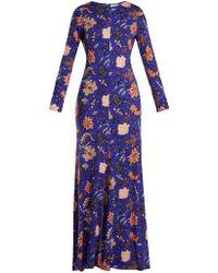Diane von Furstenberg - Canton-print Silk-jersey Maxi Dress - Lyst