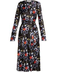 Diane von Furstenberg - Tilly Lanell Print Silk Wrap Dress - Lyst