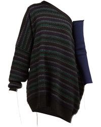 Raf Simons - One Shoulder Striped Knitted Jumper - Lyst