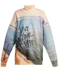 Marques'Almeida - Live Your Life Printed Jersey Sweatshirt - Lyst