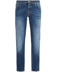 Jacob Cohen - Rip And Repair Slim-fit Jeans - Lyst