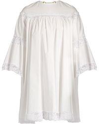 Sonia Rykiel | Lace-trimmed Cotton Dress | Lyst