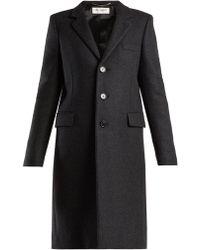 Saint Laurent - Notch Lapel Single Breasted Wool Coat - Lyst