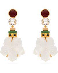 Lizzie Fortunato - Margerita Flower Drop Earrings - Lyst