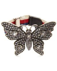 Gucci - Crystal-embellished Butterfly Bracelet - Lyst
