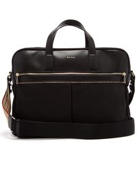 Paul Smith - Canvas And Leather Briefcase - Lyst