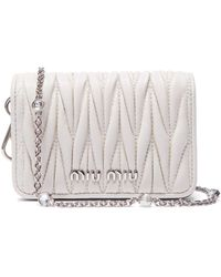 24ecc0303c2 Miu Miu - Mini Mattelassé Leather Cross Body Bag - Lyst