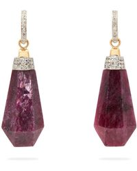 Jade Jagger - Never Ending Ruby Diamond Drop Earrings - Lyst