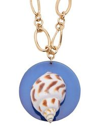 Rebecca de Ravenel - Sirena Shell And Gold-plated Pendant Necklace - Lyst