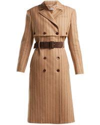 Altuzarra - Higgins Pinstriped Double Breasted Wool Blend Coat - Lyst
