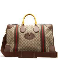Gucci - Gg Supreme Canvas And Leather Holdall - Lyst