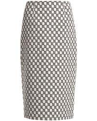 Mary Katrantzou - Sigma Geometric Jacquard Pencil Skirt - Lyst
