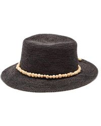 Sensi Studio - Hippie Bead-embellished Woven-straw Hat - Lyst