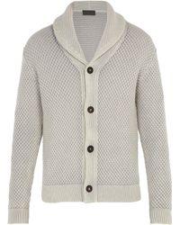 Iris Von Arnim - Galileo Waffle-knit Cashmere Cardigan - Lyst