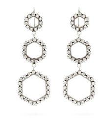Isabel Marant - Crystal-embellished Hexagon-drop Earrings - Lyst