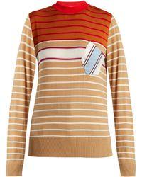 Marni - Striped Wool Blend Jumper - Lyst