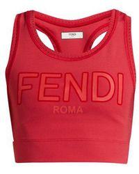 Fendi - - Roma Logo Sports Bra - Womens - Red - Lyst