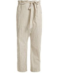 MASSCOB - Paper-bag Waist Striped Trousers - Lyst
