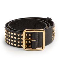 Alexander McQueen - Studded Leather Belt - Lyst