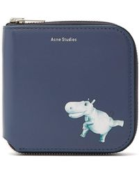Acne Studios - Hippopotamus-print Leather Wallet - Lyst