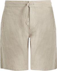 Onia - Max Drawstring Linen Shorts - Lyst