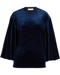 Toga - Flared Sleeves Velvet Top - Lyst