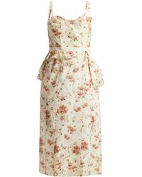 Brock Collection - Dailey Rose Print Cotton Voile Dress - Lyst