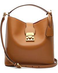 Mark Cross - Murphy Smooth Leather Bucket Bag - Lyst