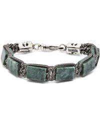 Emanuele Bicocchi - Double Chain Sterling Silver Bracelet - Lyst
