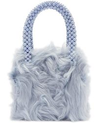 Shrimps - Halley Faux Fur And Faux Pearl Bag - Lyst