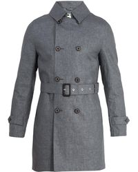 Mackintosh - Double Breasted Linen Trench Coat - Lyst